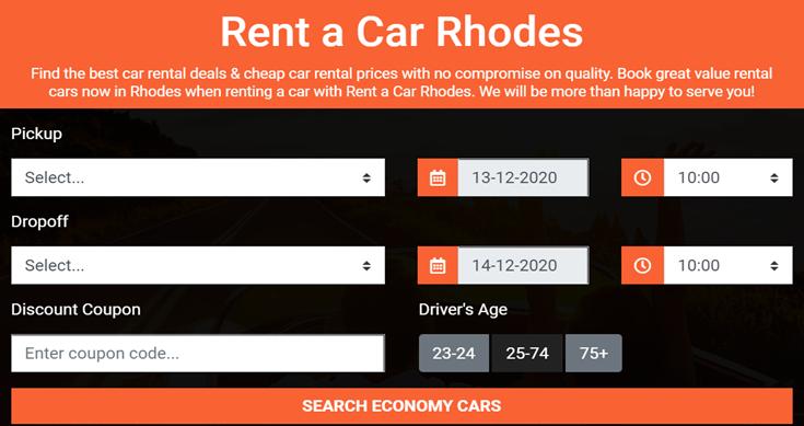 Rent a Car Rhodes